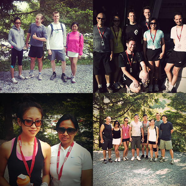 We made a commitment and I did the Grouse Grind almost every week with my co-workers plus some 2-4x per week with other friends. NO EXCUSES!
