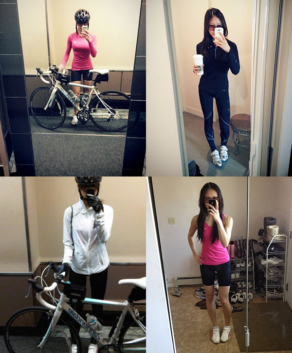 My #vainmirrorpics always come in handy (especially when you have a blog). Call me boring but my idea of perfect cycling gear is plain, single colored, and fits like a glove. How hard is that to design?! And yes, I do like pink [working gear only] and it just so happens that I'm wearing pink in my #vainmirrorpics .. but it's not the pastel pink I'm complaining about!