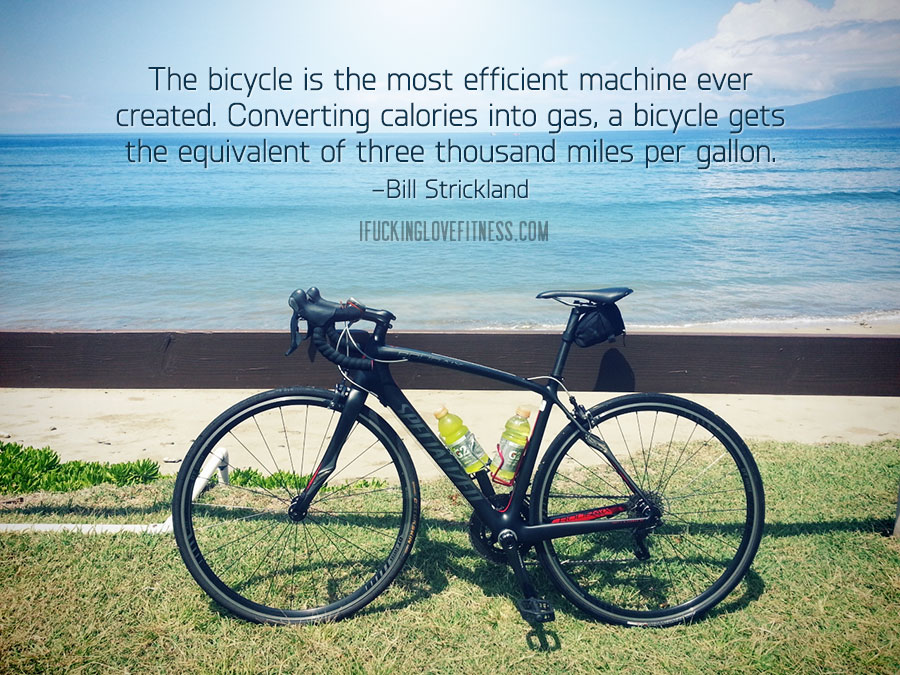 The bicycle is the most efficient machine ever created. Convert