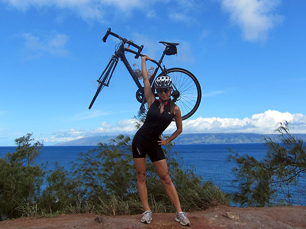 Somewhere on a rock in West Maui with a Specialized Roubaix