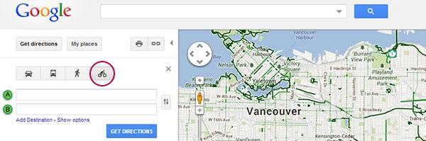 Google Maps Vancouver Bike Lanes