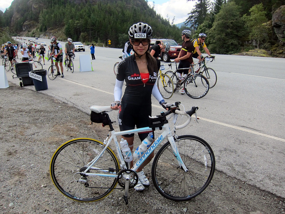 Whistler Gran Fondo & a yellow tire.