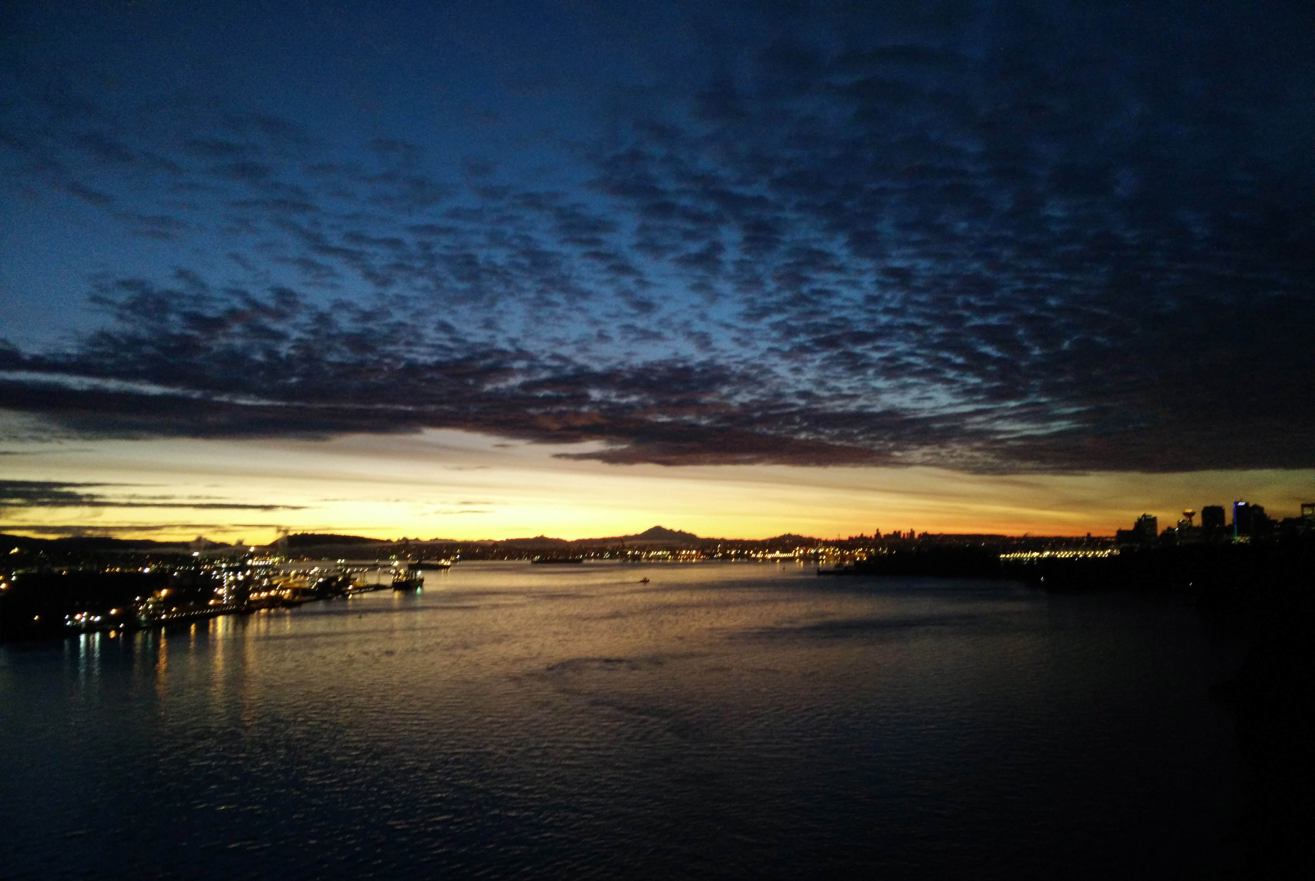 Vancouver Sunrise over the Lionsgate Bridge