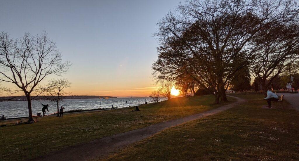 Sunset @ English Bay, Vancouver, 2021